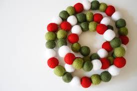 christmas garland pom pom garland felt ball christmas
