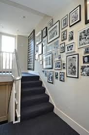 Silver Candle Wall Sconces Family Portrait Wall Staircase Transitional With Picture Frames