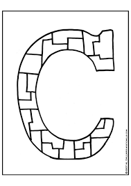coloring pages for letter c coloring page letter c img 9254