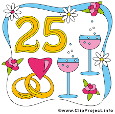 25 ans de mariage 25 ans anniversaire mariage illustration gratuite anniversaires