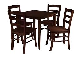 winsome groveland 5pc square dining table with 4 chairs by oj