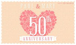 floral wedding anniversary invitation card vector download