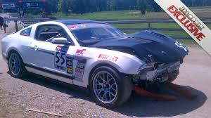 ford mustang 302 s mustang 302s with vin 001 crashes on the track