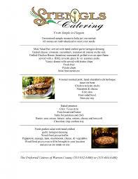Lunch Buffet Menu Ideas by Stengls Catering Menus