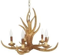 Deer Antler Chandelier Ebay 5 Light Antler Hanging Chandelier Adjustable Length Rustic