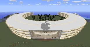apple u0027s new spaceship headquarters minecraft project