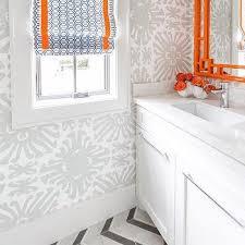 orange bathroom ideas orange and gray bathroom wallpaper design ideas