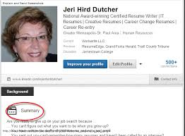 linkedin you absolutely positively need a profile summary