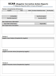 ncr report template corrective form template principal photo 5 report templates