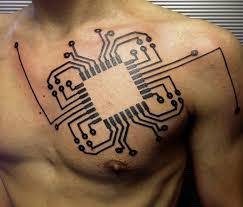 Tattoo Ideas On Shoulder Best 10 Computer Tattoo Ideas On Pinterest Geometric Tattoo