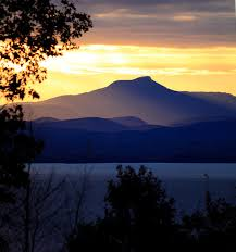 Vermont travel stickers images Sunrise over camel 39 s hump vt viewed from the ny side of lake jpg