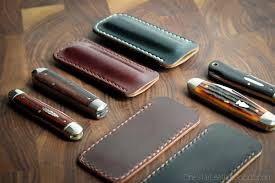 Knife Patterns Pocket Knife Slip Case In Horween Shell Cordovan Fits Gec Patterns
