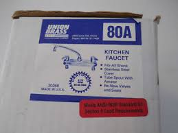 kitchen faucet made in usa union brass model 80a kitchen faucet made in usa ebay
