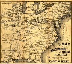 Ohio Erie Canal Map by Baltimore U0026 Ohio Railroad