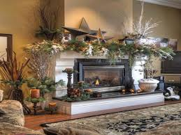 elegant rustic decor christmas fireplace mantel ideas country