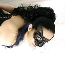 black cat beaded masquerade mask on luulla
