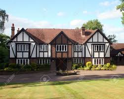 Tudor Style House A Large Estate Home Tudor Style In The Uk Stock Photo Picture