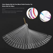 50pcs false display pops nail art fan wheel polish practice tip