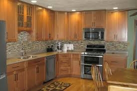 kitchen backsplash ideas with oak cabinets oak cabinets kitchen contemporary with tile backsplash nbsp oak