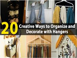 20 creative ways to organize and decorate with hangers diy u0026 crafts
