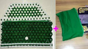 How To Hang Door Beads by How To Stitch Cloth Bag For Beaded Purse Attaching Cloth To