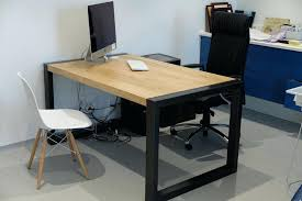 plateau bois bureau fabrication de bureau sur mesure avec plateaux en chne massif in