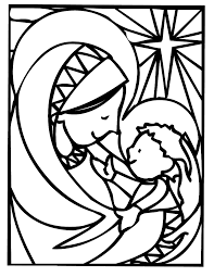 mother mary christmas coloring pages learn to coloring