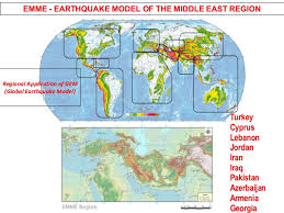 middle east earthquake zone map city scenario applications in emme earthquake model of middle east
