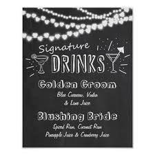 wedding chalkboard signature drink wedding chalkboard sign zazzle