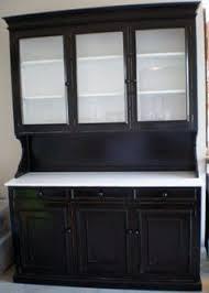 Black Hutch Refinished House Ideas Pinterest Black Hutch - White kitchen hutch cabinet
