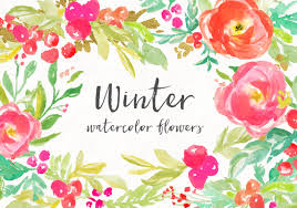 Watercolor Flowers - winter flowers angiemakes com