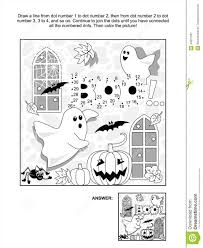 Halloween Bats To Color by Halloween Dot To Dot And Coloring Page Stock Image Image 34697501