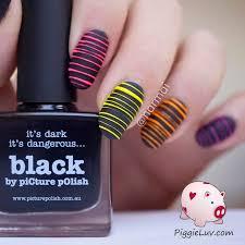 piggieluv glow in the dark sugar spun nail art video tutorial