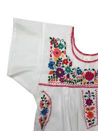 el sol bright colored vintage style mexican women u0027s dress pink