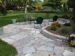 winsome flagstone patio feature natural grey stone garden paths