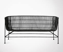 style house canapé 2 seat black rattan design sofa house