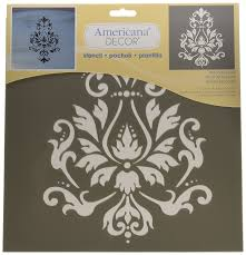 amazon com deco art americana decor stencil brocade motif