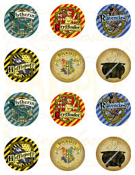 printable harry potter cupcake toppers favor tags riverbound