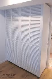 placard chambre sur mesure placard sur mesure contemporain avec porte persienne by hegenbart