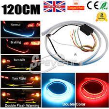 led light strip turn signal 48 120cm car suv flowing type led light strip trunk tailgate light