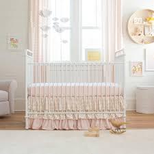 Pink And Black Polka Dot Bedding Nursery Decors U0026 Furnitures Pink White And Gold Crib Bedding