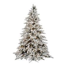 lowes artificial christmas trees with lights shop vickerman 9 ft pre lit utica fir flocked artificial christmas