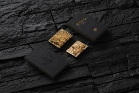 opulent business card branding black and gold