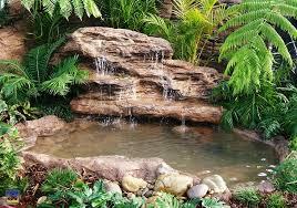 Backyard Nature Products Majestic Falls Kit Waterfall Pond Kit Universal Rocks