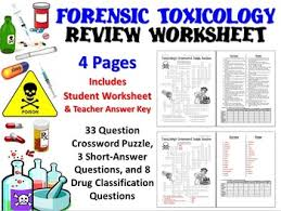 forensic science toxicology review worksheet tpt