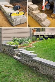 Backyard Retaining Wall Ideas Diy Garden Retaining Walls The Garden Glove