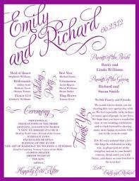 Programs For Weddings Extra Creative Programs Weddings Fun Stuff Do It Yourself