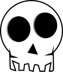 clipart of halloween eye socketed skull free halloween vector clipart illustration
