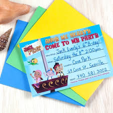 jake land pirates party invitations disney family