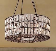 Crystal And Bronze Chandelier Adeline Crystal Chandelier Pottery Barn